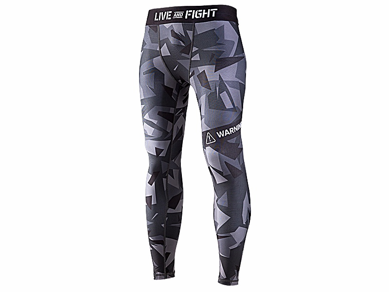 OLIMP Men's Leggins Athletic Camo black.