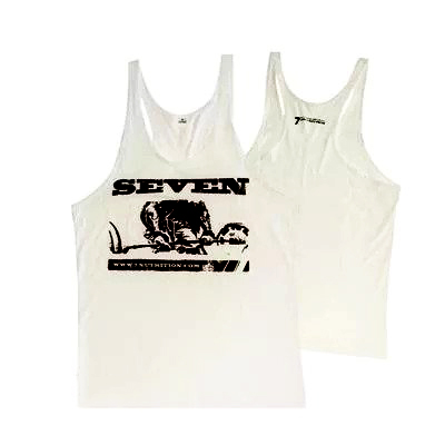 7 Nutrition Tank Top white XL.