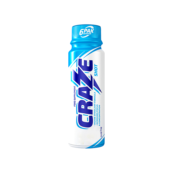 6pak Craze 80ml shot.