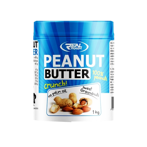 REAL PHARM Peanut Butter 1000g crunchy.