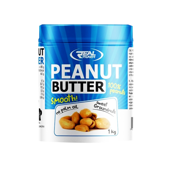REAL PHARM Peanut Butter 1000g smooth