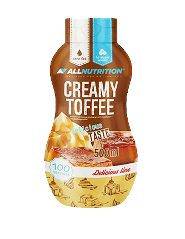 ALLNUTRITION Sos Zero creamy toffee 500ml.
