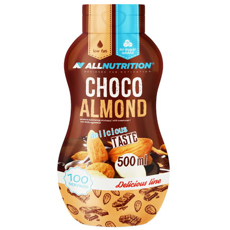 ALLNUTRITION Sos Zero choco-almond 500ml.